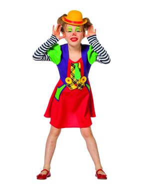 Costume da pagliaccio rosso per bambina