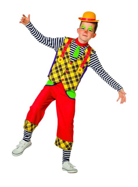 Disfraz de payaso amarillo para niño - hombre