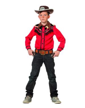 लड़कों के लिए लाल चरवाहा शर्ट