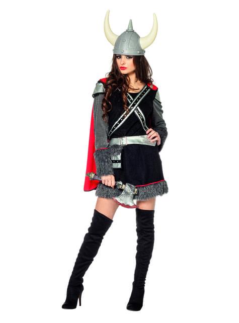 Sort viking kostume til kvinder