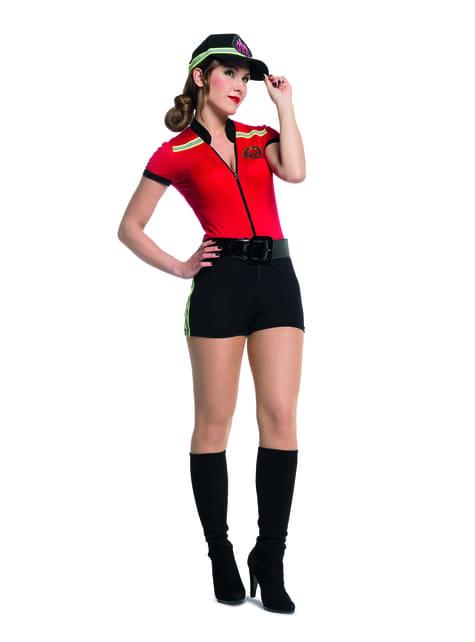 Sexet brandmand kostume til kvinder