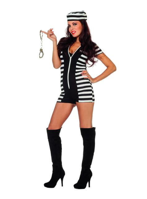 Sexy prisoner costume for women