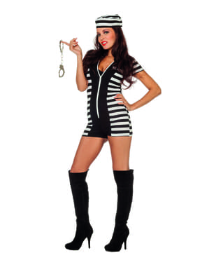 Sexy Sträfling Kostüm für Damen