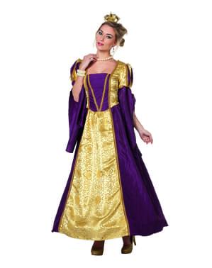 Fioletowy kostium barokowej królowej dla kobiet