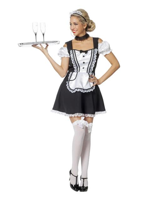 Disfraz de criada francesa elegante para mujer