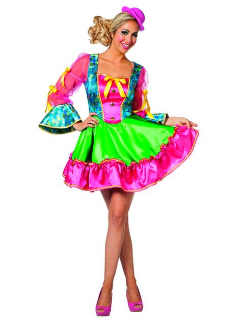 Clown Kostüm rosa für Damen