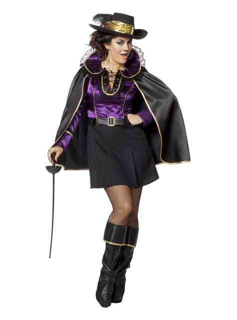 Purple Puss in Boots costume for women