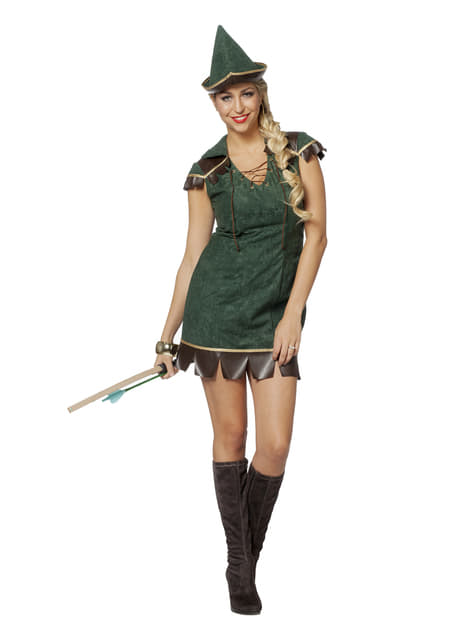 Fato de Robin Hood para mulher