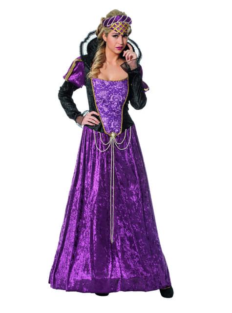 Disfraz de Princesa del Renacimiento morada para mujer