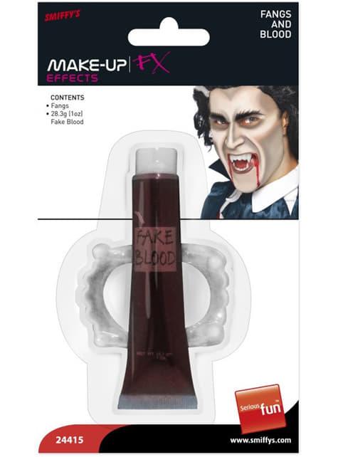 Maquillaje FX efecto sangre y colmillos - para tu disfraz