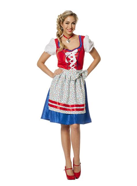 Disfraz de Oktoberfest rojo para mujer