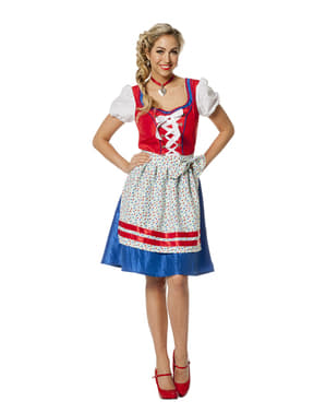 Red Oktoberfest costume for women