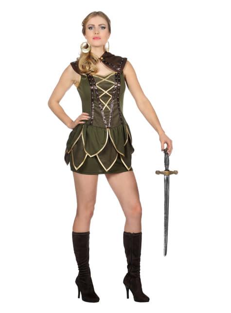 Disfraz de Robin Hood verde para mujer