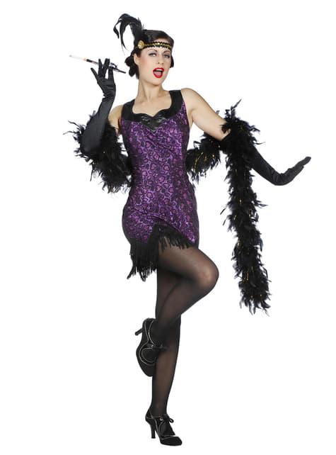 Purple Charleston costume for women