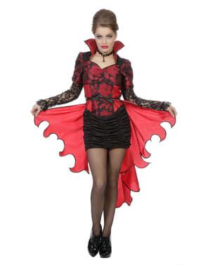 Vampir Kostüm rot für Damen