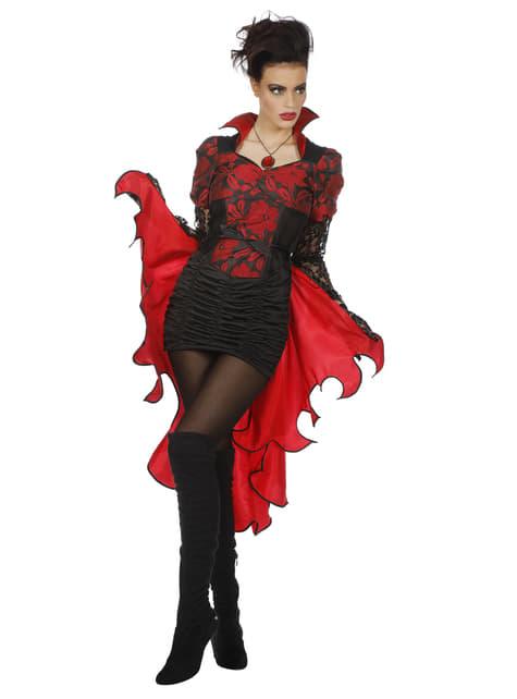 Disfraz de vampiro rojo para mujer
