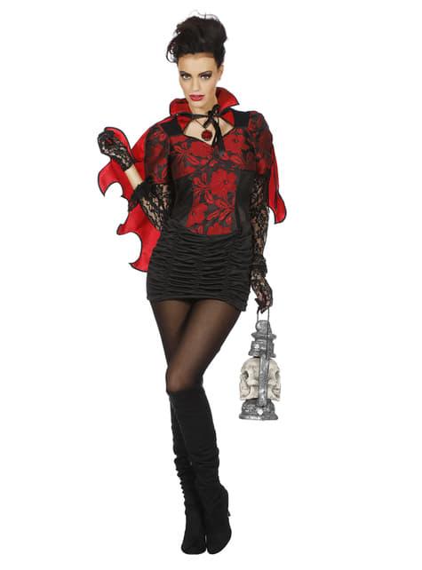 Disfraz de vampiro rojo para mujer - traje