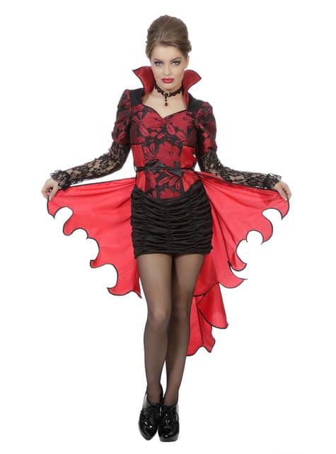 Disfraz de vampiro rojo para mujer - Halloween