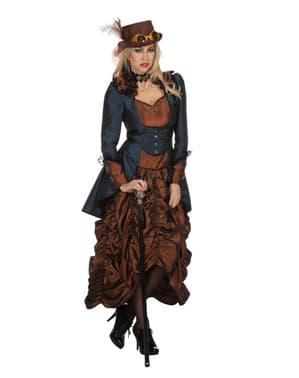 Steampunk Kostüm braun für Damen
