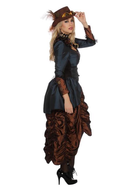 Disfraz de steampunk marrón para mujer - mujer