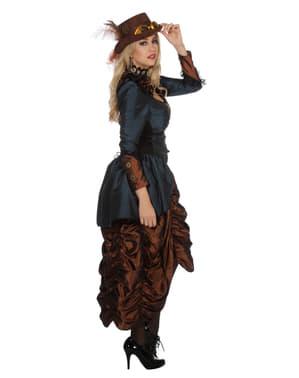 Кафяв дамски стиймпънк костюм
