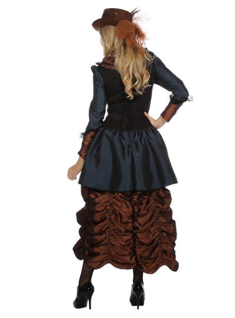 Disfraz de steampunk marrón para mujer - original