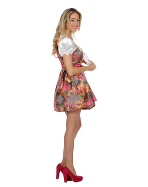 Pink Flared Dirndl for Women