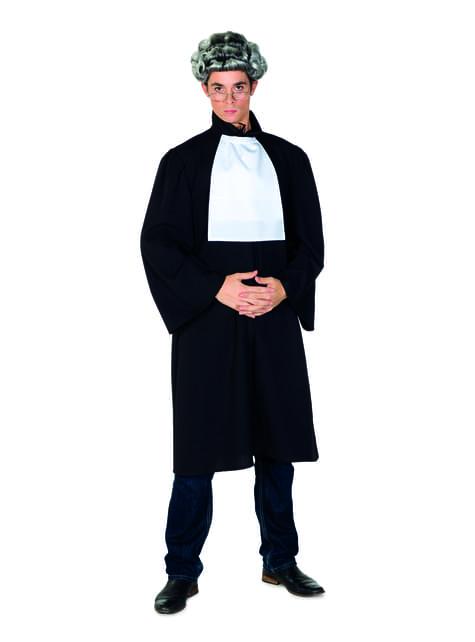Sort dommer kostume til mænd