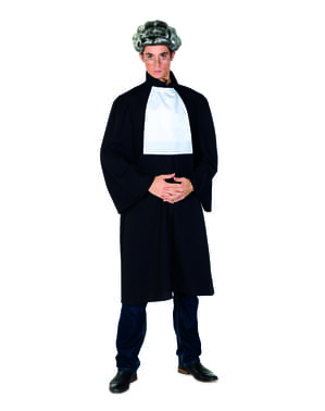 Costume da giudice nero per uomo