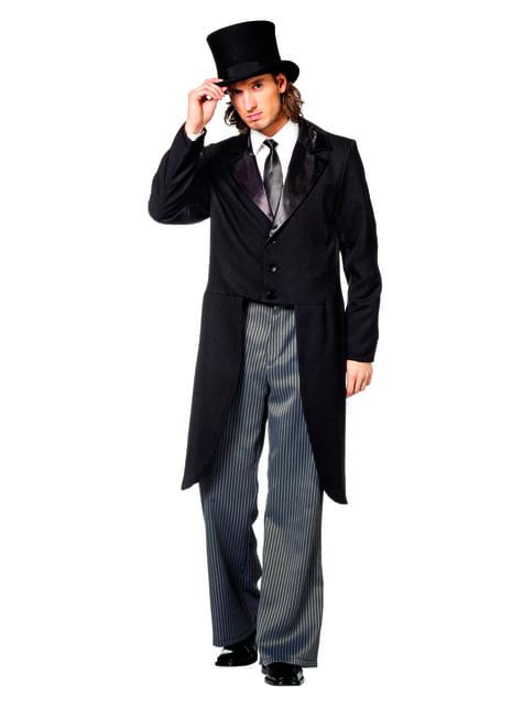 Black boyfriend tailcoat for men