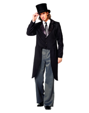 Black boyfriend tailcoat for men