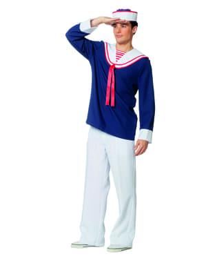 Blått sjømann kostyme til menn