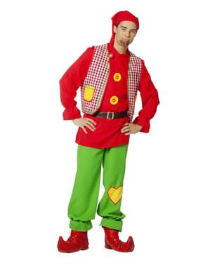 Rødt alfe kostume til mænd