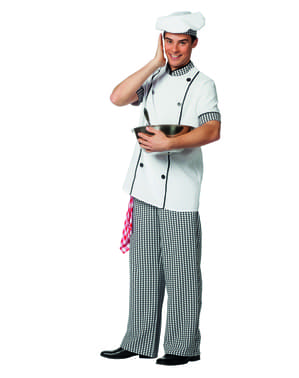 White chef costume for men