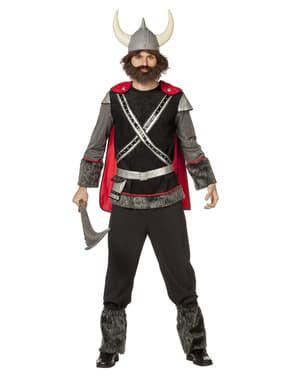 男性用の黒いバイキングコスチューム