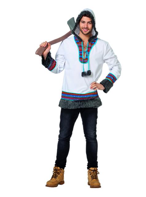 Disfraz de esquimal blanco para hombre