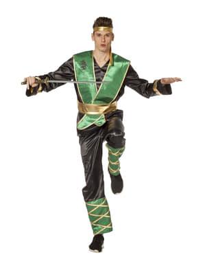Maskeraddräkt ninja grön vuxen