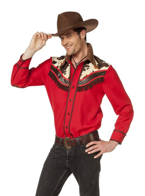 Camisa de vaquero roja para hombre