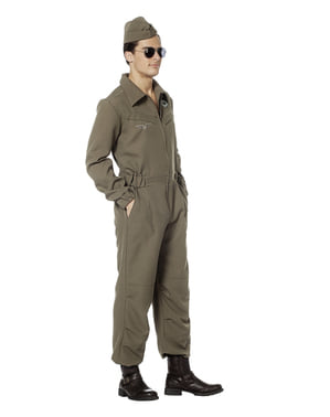 Green pilot costume for men