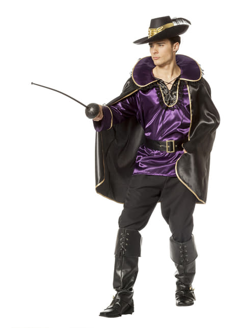 Purple Puss in Boots costume for men