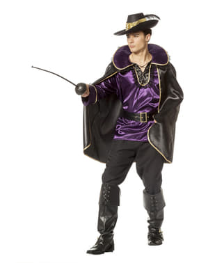 Purple Musketeer Costume for Men