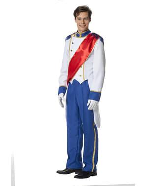 Blåt prinse kostume til mænd