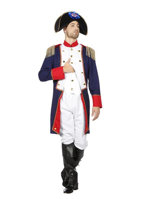Disfraz de Napoleón azul para hombre