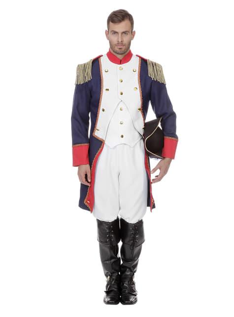 Costume di Napoleone blu per uomo