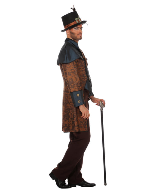 Blauw steampunk kostuum voor mannen