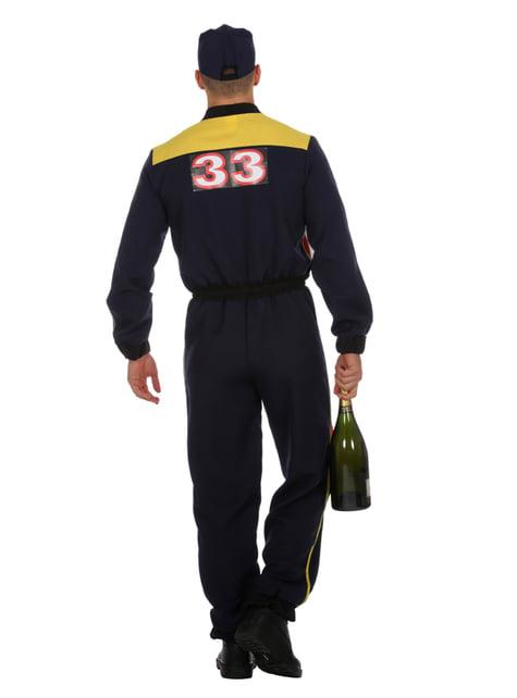 Disfraz de piloto de carreras azul para hombre - original