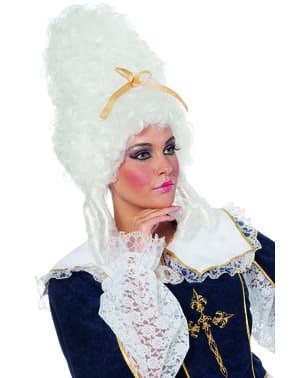 valkoinen barokkiperuukki naisille