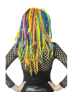 Parrucca rasta multicolore