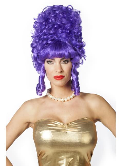 Perruque baroque violette femme