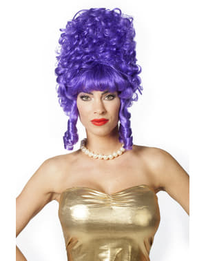 Purple baroque wig for women